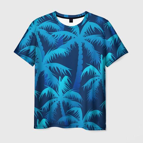 Мужская футболка 3D Пальмы
