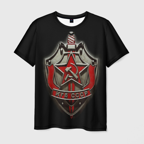Мужская футболка 3D КГБ