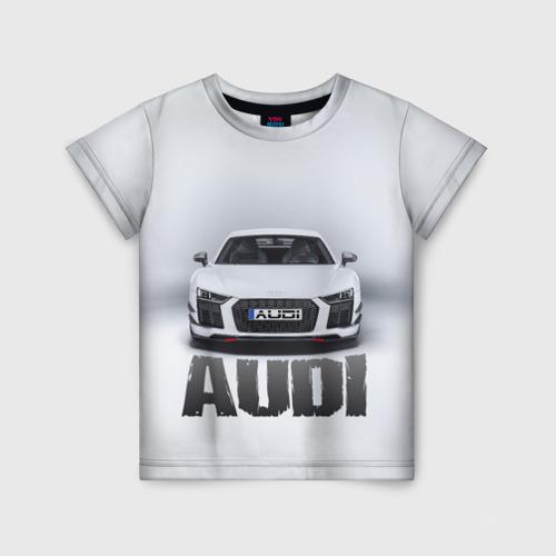 Детская футболка 3D Audi серебро