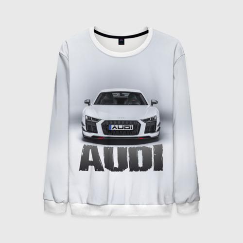 Мужской свитшот 3D Audi серебро