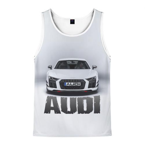 Мужская майка 3D Audi серебро