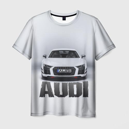 Мужская футболка 3D Audi серебро
