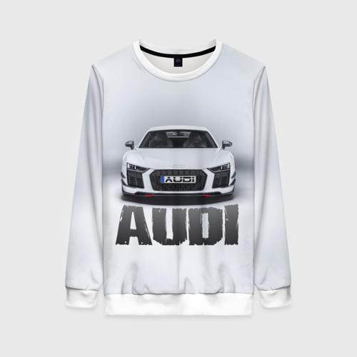 Женский свитшот 3D Audi серебро