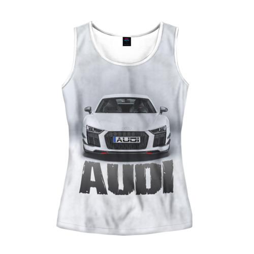 Женская майка 3D Audi серебро