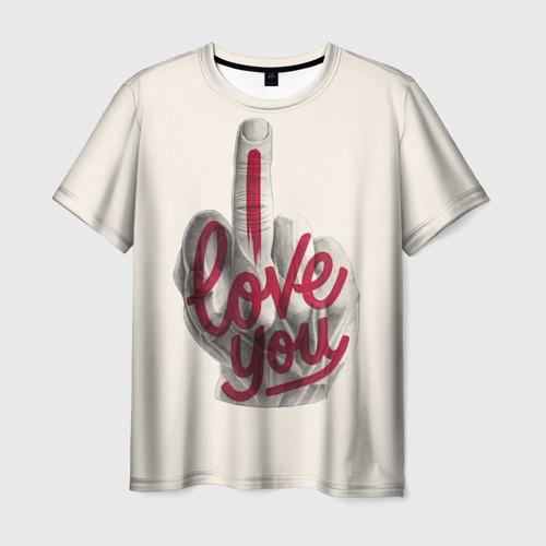 Мужская футболка 3D I Love You