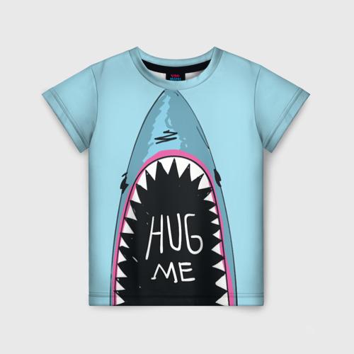 Детская футболка 3D Обними Меня / Акула