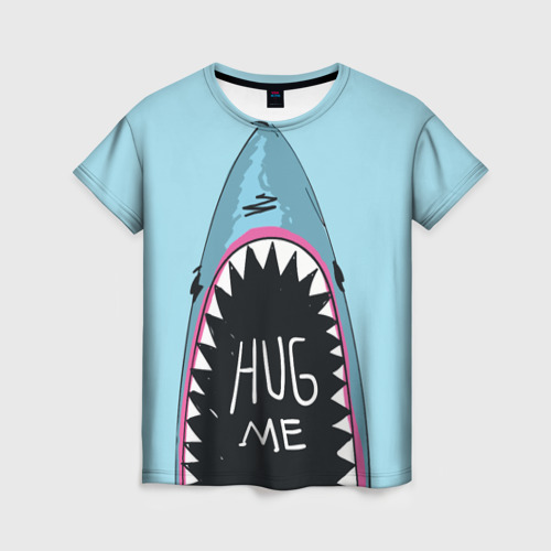 Женская футболка 3D Обними Меня / Акула
