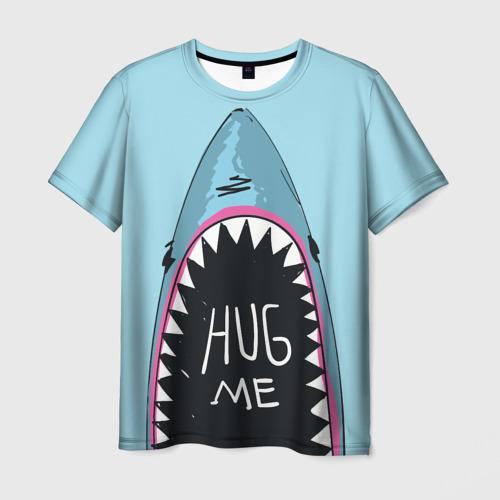 Мужская футболка 3D Обними Меня / Акула