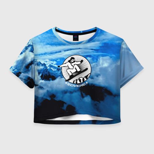 Женская футболка Crop-top 3D Snowboard