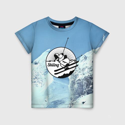 Детская футболка 3D Лыжный спорт