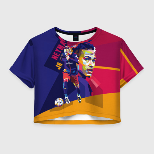 Женская футболка Crop-top 3D Neymar