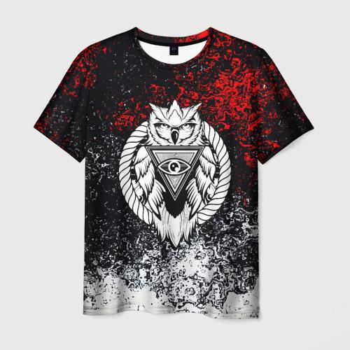 Мужская футболка 3D Сова