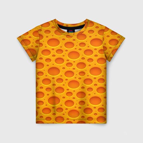 Детская футболка 3D Сыр