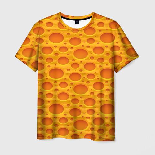Мужская футболка 3D Сыр