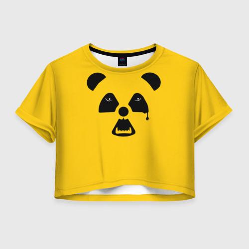 Женская футболка Crop-top 3D Радиоактивная природа