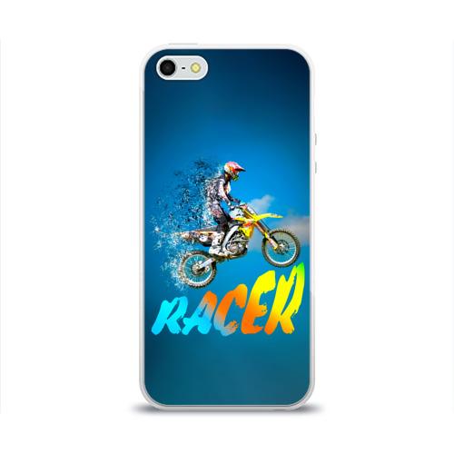 Чехол для iPhone 5/5S глянцевый Racer (гонщик)