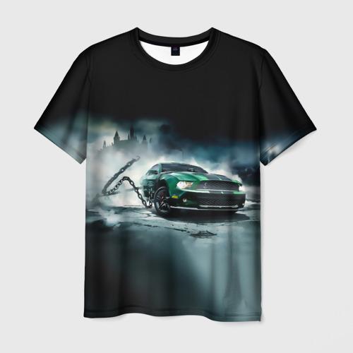 Мужская футболка 3D Призрачный Ford Mustang