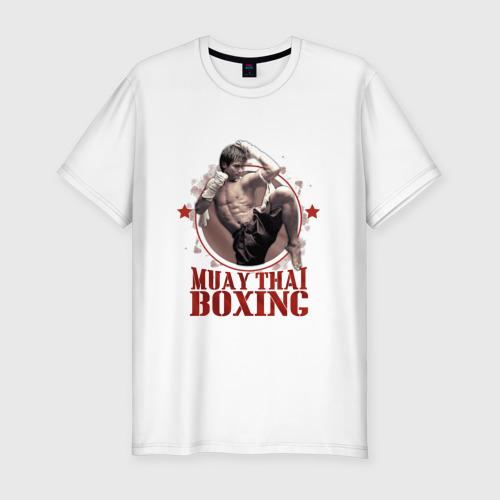 Мужская футболка хлопок Slim Тайский бокс