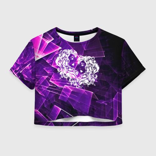 Женская футболка Crop-top 3D Близнецы