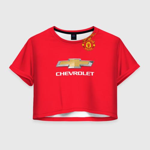 Женская футболка Crop-top 3D Форма MU Valencia