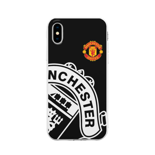Чехол для iPhone X матовый Manchester United - Collections 2017 / 2018