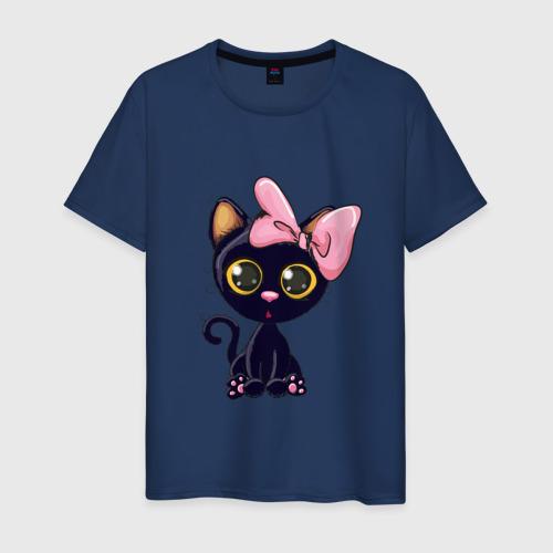 Мужская футболка хлопок Котёнок