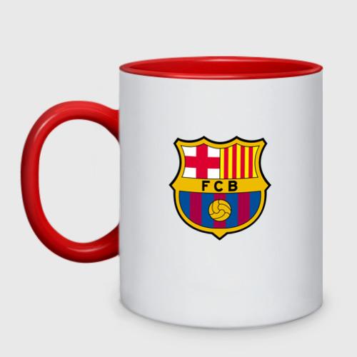 Кружка двухцветная ФК Барселона