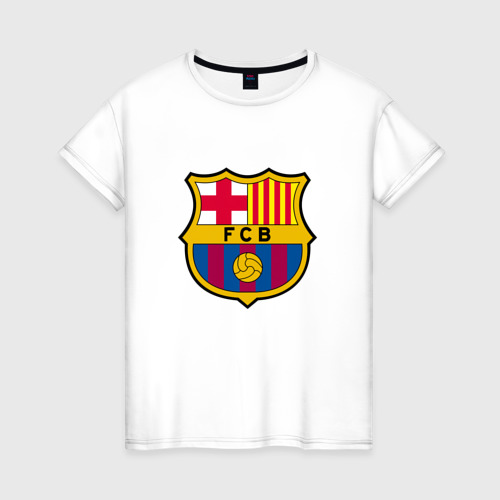 Женская футболка хлопок ФК Барселона