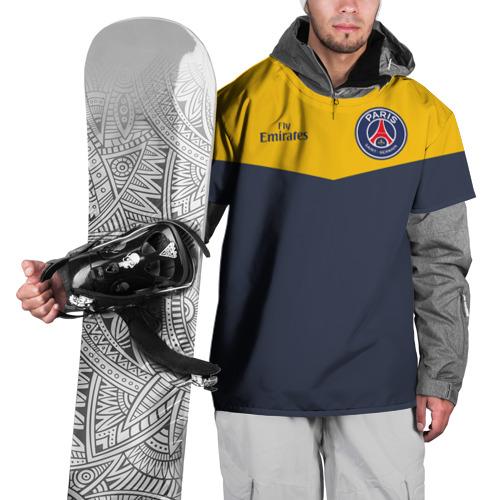 Накидка на куртку 3D Paris Saint-Germain - Navy Yellow (Collections 2018)