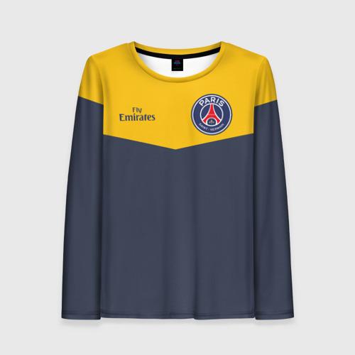 Женский лонгслив 3D Paris Saint-Germain - Navy Yellow (Collections 2018)
