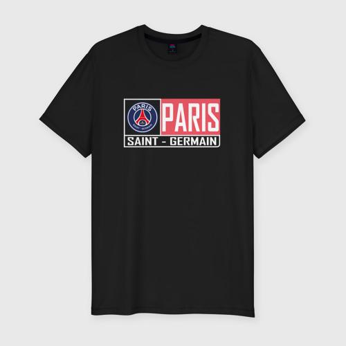 Мужская футболка хлопок Slim Paris Saint-Germain - New collections 2018