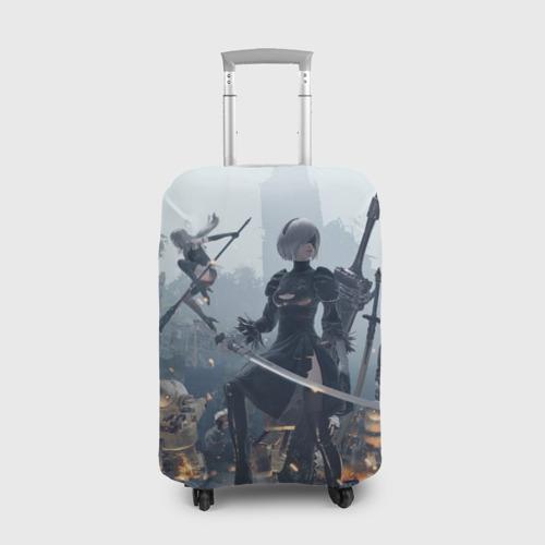 Чехол для чемодана 3D Nier automata