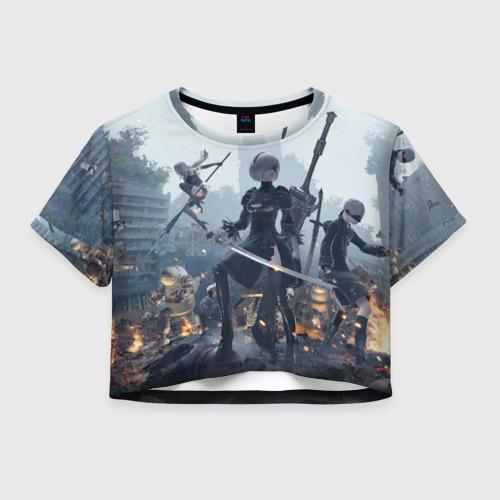 Женская футболка Crop-top 3D Nier automata