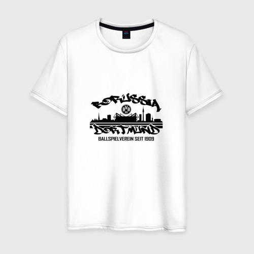 Мужская футболка хлопок Borussia Dortmund - Seit 1909,Black (New Design 2018)