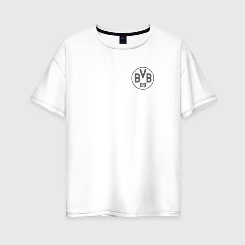 Женская футболка хлопок Oversize Borussia Dortmund - Vintage style (New Collections 2018)