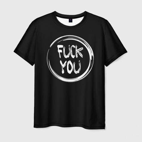 Мужская футболка 3D FUCK YOU 3