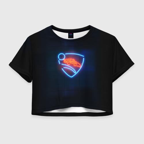 Женская футболка Crop-top 3D Rocket League