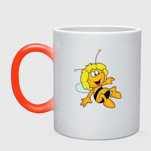 Кружка хамелеон пчелка Майя
