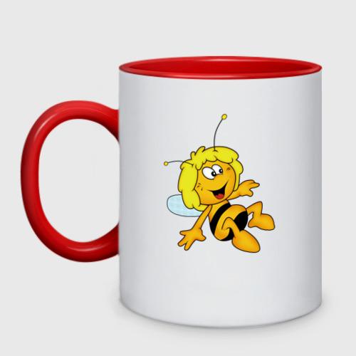 Кружка двухцветная пчелка Майя