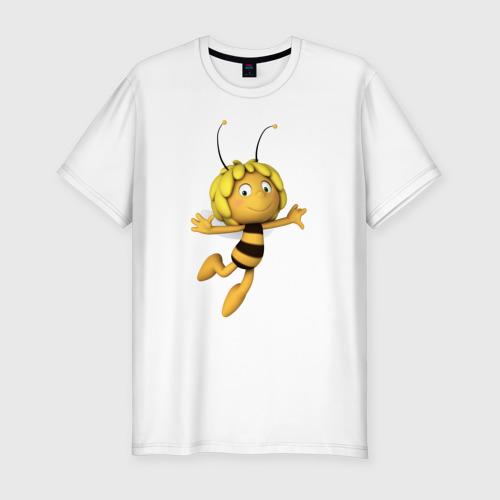 Мужская футболка хлопок Slim пчелка Майя