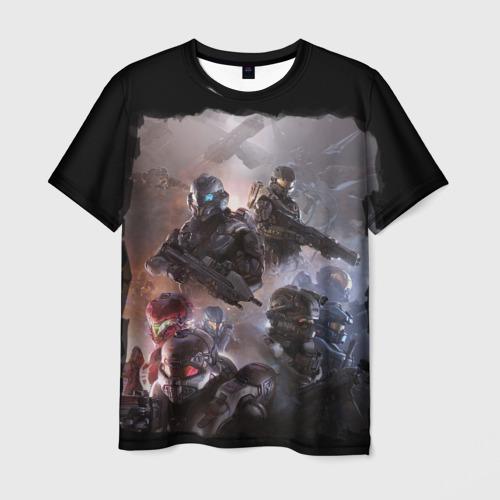 Мужская футболка 3D Halo wars