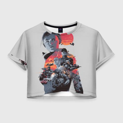 Женская футболка Crop-top 3D Halo wars