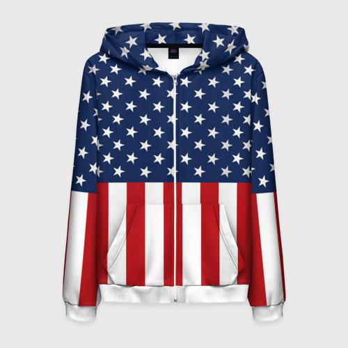 Мужская толстовка 3D на молнии Флаг США