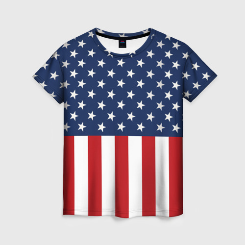 Женская футболка 3D Флаг США