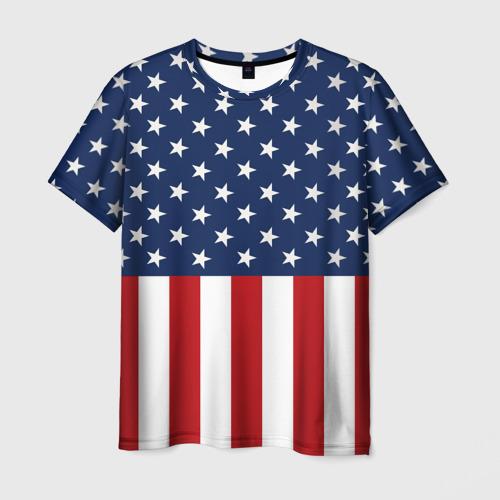 Мужская футболка 3D Флаг США