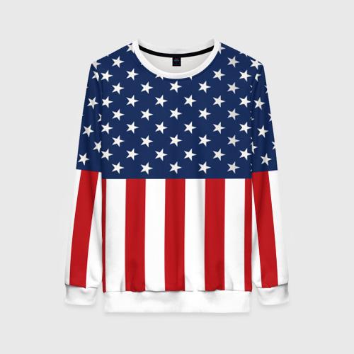 Женский свитшот 3D Флаг США