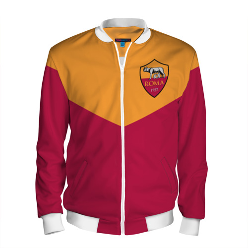 Мужской бомбер 3D A S Roma - Yellow and Red