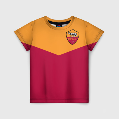 Детская футболка 3D A S Roma - Yellow and Red