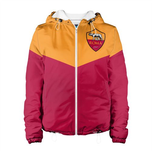 Женская куртка 3D A S Roma - Yellow and Red