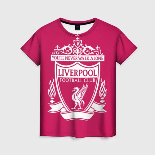 Женская футболка 3D Ливерпуль YNWA